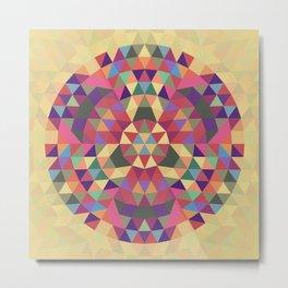 Tribal triangle mandala Metal Print