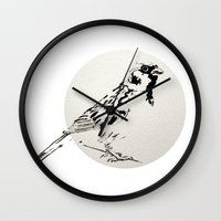 sparrow Wall Clocks featuring Sparrow by Condor