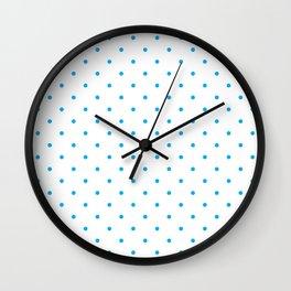 Small Blue Polka Dots Wall Clock