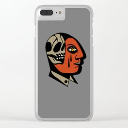 Skullhead tattoo Clear iPhone Case