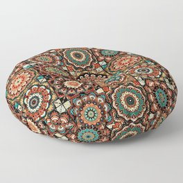 talavera mexican style pattern Floor Pillow