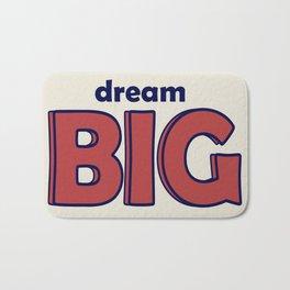 Dream BIG - Positive Thinking - Deep Blue & Red Bath Mat