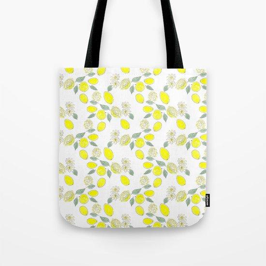 Watercolor . Lemon . Tote Bag