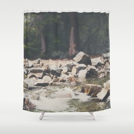 Lake Tahoe mountain river photograph Shower Curtain