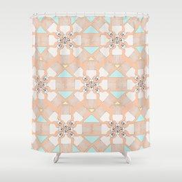 comb on kaleidoscope Shower Curtain