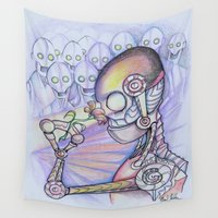 carpe diem Wall Tapestries featuring Carpe Diem by Mark Holden