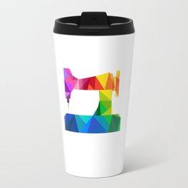 Geometric Sewing Machine Travel Mug