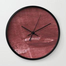 Sienna hand-drawn wash drawing pattern Wall Clock