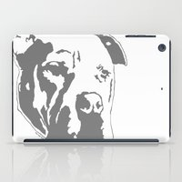 pitbull iPad Cases featuring COACH - GREY by Kirk Scott