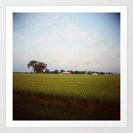 Midwest Field 01, Holga Art Print