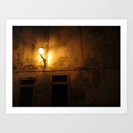 Alfama Nightlight Art Print