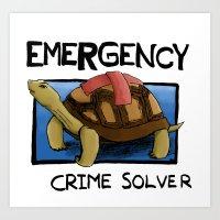 Clyde the Emergency Crime Solver! Art Print