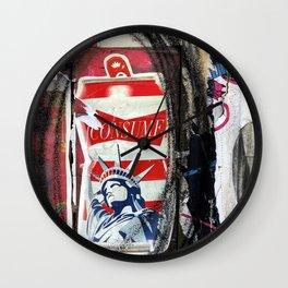 Liberty Consume New York Graffiti Wall Clock