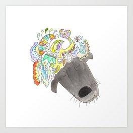 A dog can dream! Art Print