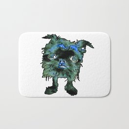Lugga The Friendly Hairball Monster For Boos Bath Mat