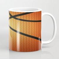 basketball Mugs featuring Basketball by Debra Ulrich