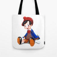 gucci Tote Bags featuring Pinocchio x Gucci by Olivia Au