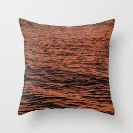 Ripples at Sunset Throw Pillow