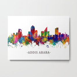 Addis Ababa Ethiopia skyline Metal Print