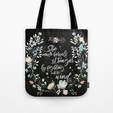 Secret Garden - She Made Herself Stronger (Black) Tote Bag