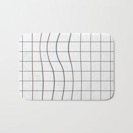 Square Glitch Pattern Bath Mat