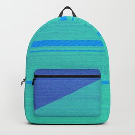 Glitch pattern digital ocean Backpack