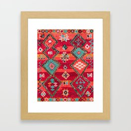 18 - Traditional Colored Epic Anthique Bohemian Moroccan Artwork Framed Art Print