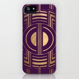 Art Deco Unfinished Love In Purple iPhone Case