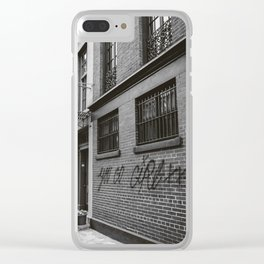 Monochrome You Go Girl Clear iPhone Case
