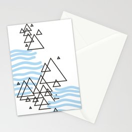 Ocean Mountains Island Stationery Cards