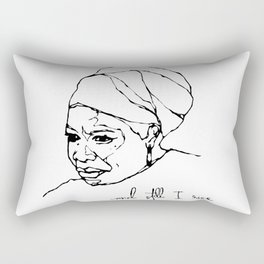 and still I rise Rectangular Pillow