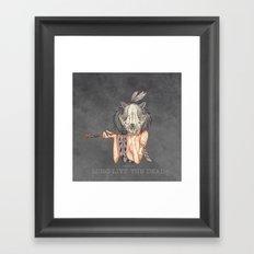 Long live the dead - Raccoon Framed Art Print