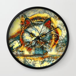 AnimalArt_Cat_20170922_by_JAMColorsSpecial Wall Clock