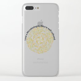 Love a Microbiologist Clear iPhone Case