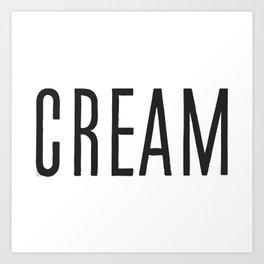 Cream Art Print