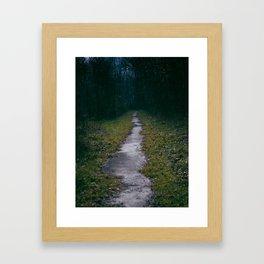 Green Sighs Framed Art Print
