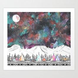 Desert Camp Vibes Art Print