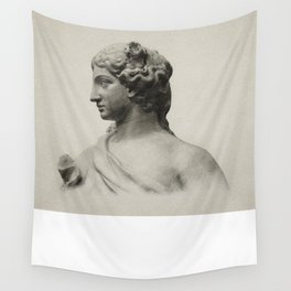 marble statue of spring Wall Tapestry