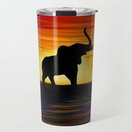 Elephant Sunset Travel Mug