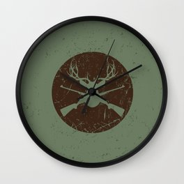 Caught in the crossfire Wall Clock