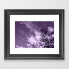 Purple Night  - JUSTART © Framed Art Print