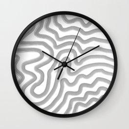 Watercolor strokes Wall Clock