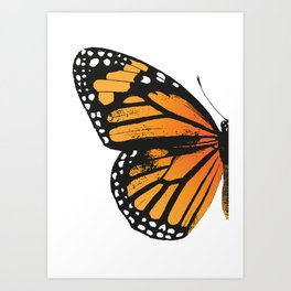 Monarch Butterfly | Left Wing Art Print