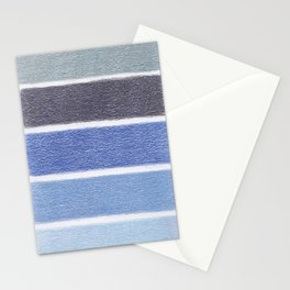 Blues Color Blocks - Color Palette No 1 - Hand Drawn Stripes Stationery Cards