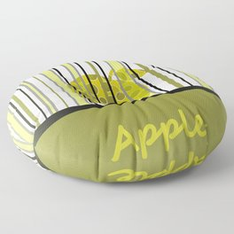 Apple And Stripes Floor Pillow