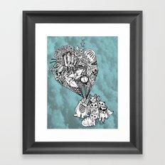 Kitten Vision Framed Art Print