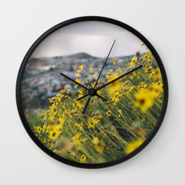 California blooming Wall Clock