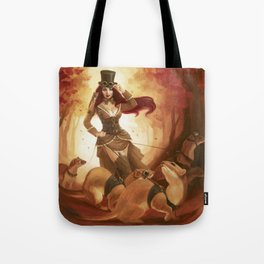 """""""A Sneak Of Weasels"""" Steampunk Pin-Up Tote Bag"""