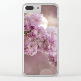 Japanese Cherry Blossom in LOVE Clear iPhone Case