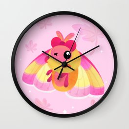 Rosy Maple Moth Wall Clock